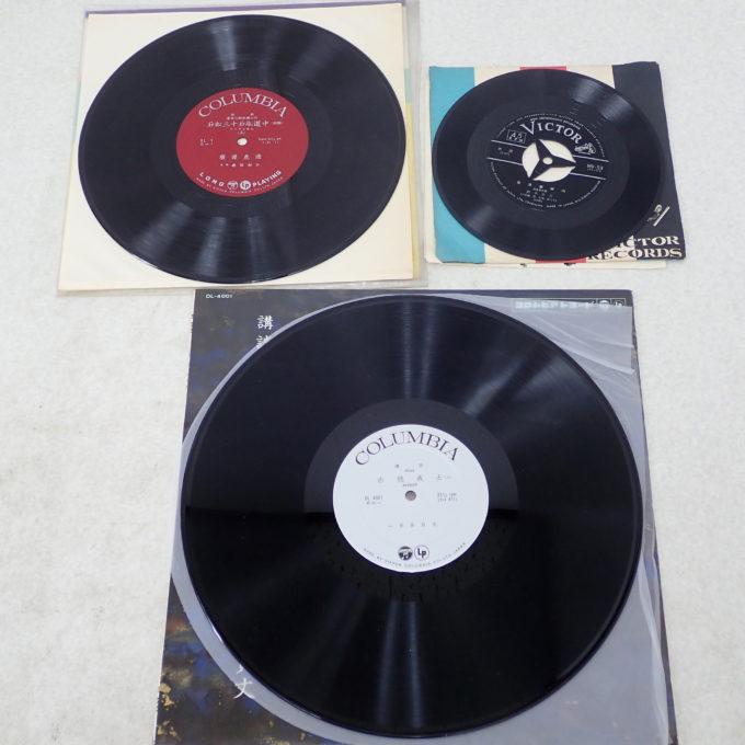 上左:10インチ盤、上右7インチシングル盤、下LP盤